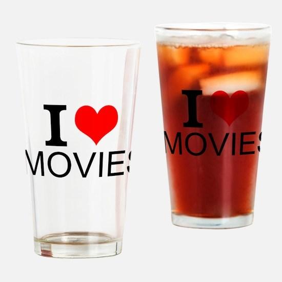 I Love Movies Drinking Glass