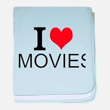 I Love Movies baby blanket