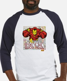 Iron Man Panels Baseball Jersey