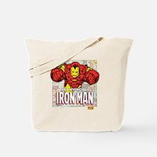 Iron Man Panels Tote Bag
