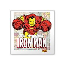 "Iron Man Panels Square Sticker 3"" x 3"""