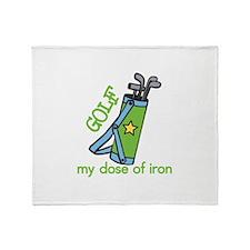 My Dose of Iron Throw Blanket