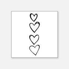 Heart Column Doodle Sticker