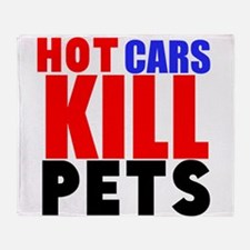 Hot Cars Kill Pets Throw Blanket
