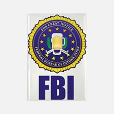 Federal Bureau of Inebriation Rectangle Magnet