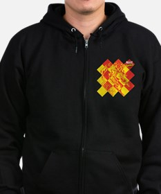 Iron Man Checkered Zip Hoodie