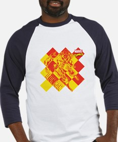 Iron Man Checkered Baseball Jersey