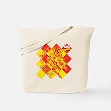 Iron Man Checkered Tote Bag
