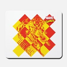 Iron Man Checkered Mousepad