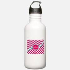 Hot PinkTeal Chevron D Water Bottle