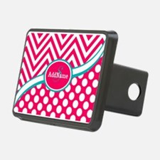 Hot PinkTeal Chevron Dots Hitch Cover