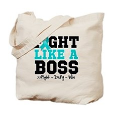 Peritoneal Cancer Fight Boss Tote Bag