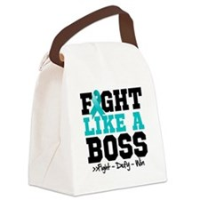 Peritoneal Cancer Fight Boss Canvas Lunch Bag