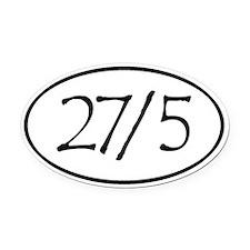 27/5 Derby Love Oval Car Magnet