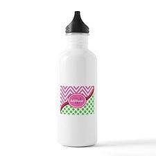 Monogrammed Neon Green Water Bottle