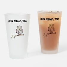 Custom Sleeping Owl Drinking Glass