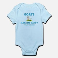 Goats Make Me Happy Body Suit