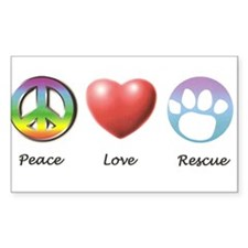 PeaceLoveRescue Decal