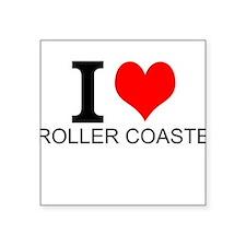 I Love Roller Coasters Sticker