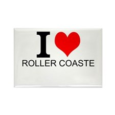I Love Roller Coasters Magnets
