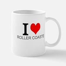 I Love Roller Coasters Mugs