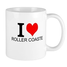 I Love Roller Coasters Mugs