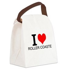 I Love Roller Coasters Canvas Lunch Bag