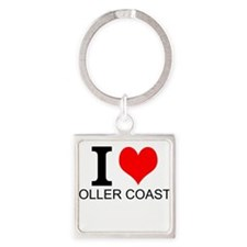 I Love Roller Coasters Keychains