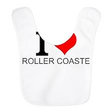 I Love Roller Coasters Bib