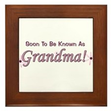 Soon To Be Known As Grandma Framed Tile