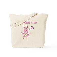 Custom Love Pig Monster Tote Bag