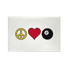 Peace Heart Billiards Magnets