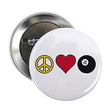 """Peace Heart Billiards 2.25"""" Button"""