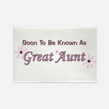 Soon To Be Great Aunt Rectangle Magnet