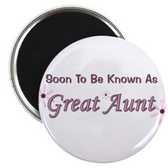 Soon To Be Great Aunt Magnet