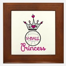 V-ball Princess Framed Tile