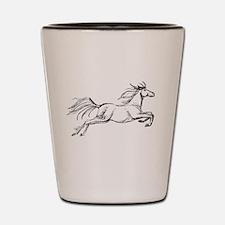 Leaping Art Horse Shot Glass