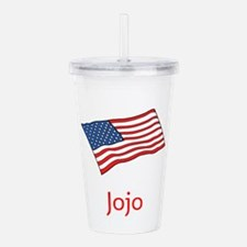 Old Glory Personalized Acrylic Double-Wall Tumbler