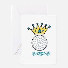 Golf King Crown Greeting Cards