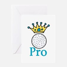 Golf Pro Crown Greeting Cards