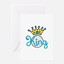 Golf King Greeting Cards