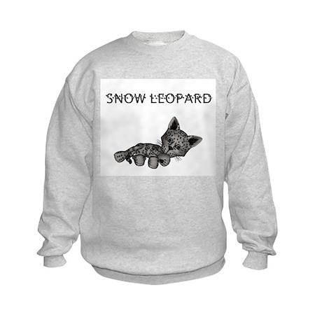Lil Snow Leopard Kids Sweatshirt