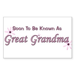Soon To Be Great Grandma Rectangle Decal