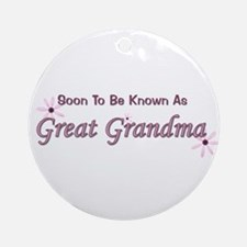 Soon To Be Great Grandma Ornament (Round)