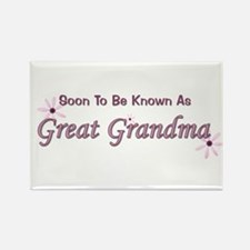 Soon To Be Great Grandma Rectangle Magnet