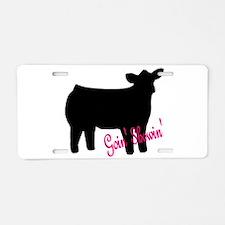 Show Heifer Aluminum License Plate