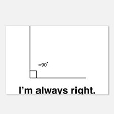 Im always right Postcards (Package of 8)