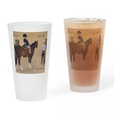 Eyes Up, Heels Down Horse Drinking Glass