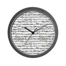 Cute Music notes Wall Clock