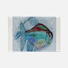 Cool Tropical aquarium Rectangle Magnet